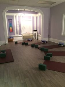 Small, boutique yoga space at The Gentle Place