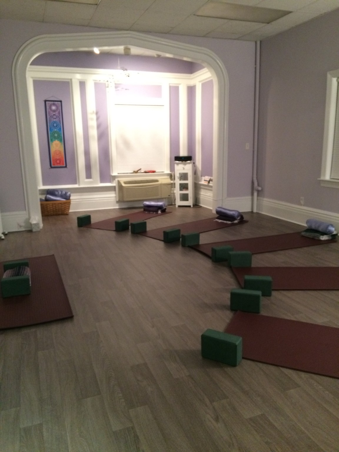 Small boutique yoga space at the gentle place